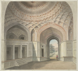 The Mughal interior of the west gate to Allahabad Fort